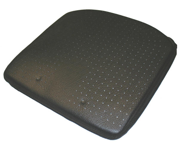 luxury wedge car seat cushion leather look improves height posture ebay. Black Bedroom Furniture Sets. Home Design Ideas