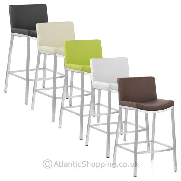 tabouret chaise de bar capone chrome bross ebay. Black Bedroom Furniture Sets. Home Design Ideas