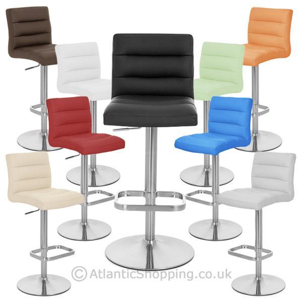 Tabouret chaise de bar lush chrome brosse ebay - Chaise de bar acier brosse ...