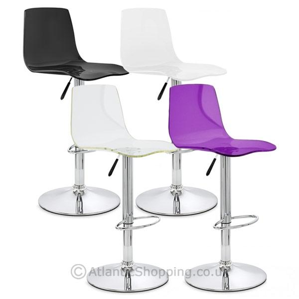 Odyssey Acrylic Chrome Kitchen Bar Stool Ebay