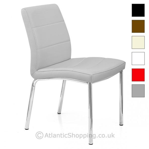 chrome breakfast faux leather kitchen dining chair ebay