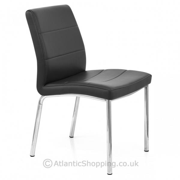 chrome breakfast faux leather kitchen dining chair ebay. Black Bedroom Furniture Sets. Home Design Ideas