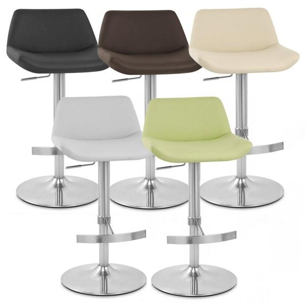 Christiana Brushed Steel Faux Leather Kitchen Bar Stool Ebay