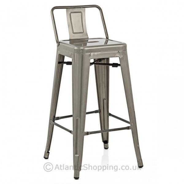 Replica tolix with back kitchen breakfast bar stool ebay for Breakfast bar stools with backs