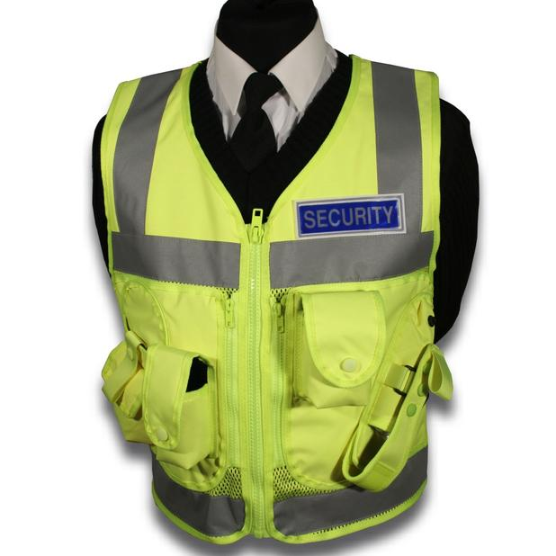 High Visibility Vest >> Protec Security guard high visability tactical vest | eBay