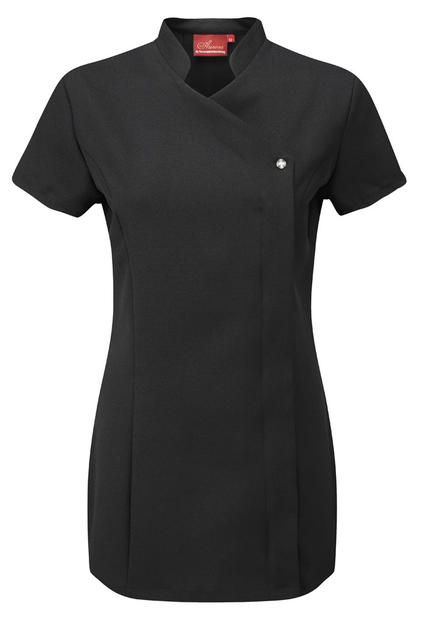 Beauty therapist salon cross over uniform nail tunic for Uniform spa therapist