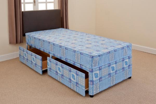 2ft6 shorty divan bed mattress free 24hr delivery uk