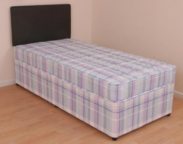 Single divan bed 3ft orthopaedic mattress melissa slide for Single divan bed with slide storage