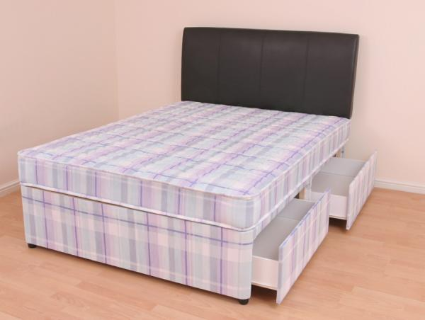 Double Divan Bed Mattress 4ft6 Slide Drawer Storage Melissa Ebay