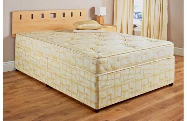 Double divan bed mattress 4ft6 free uk delivery drawers for Double divan bed with slide storage