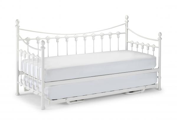 versailles metal day bed with or without trundle and mattresses ebay. Black Bedroom Furniture Sets. Home Design Ideas