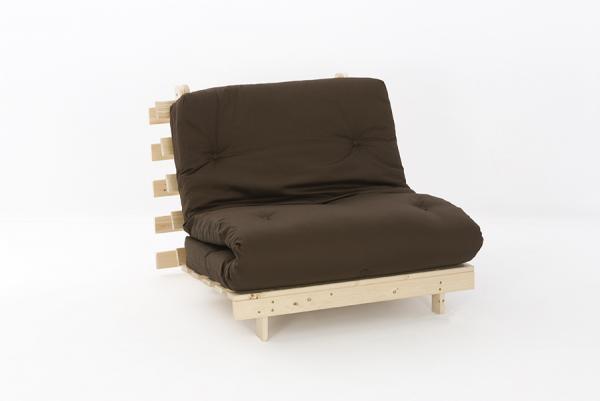 premium luxury futon wooden sofa bed extra thick mattress 11 colours