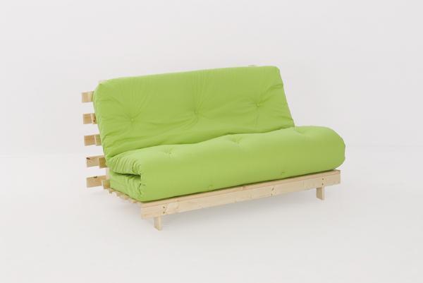 Double 4ft6 Premium Luxury Futon Wooden Sofa Bed Extra