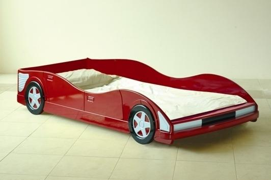 racing car kids bed 3ft single red with