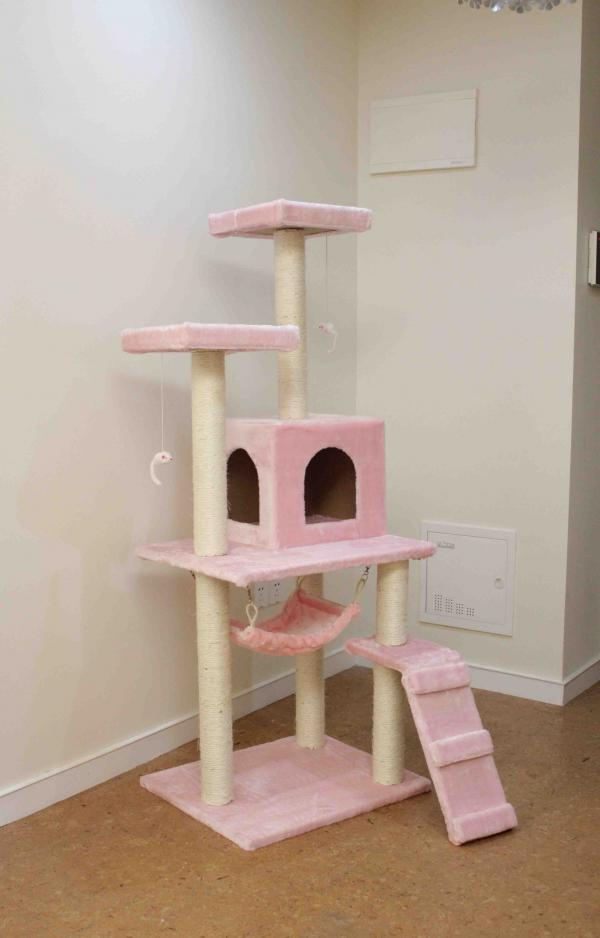 New-Beige-leopard-skin-Pink-57-Cat-Tree-Condo-Furniture-Scratch-Post-Pet-House