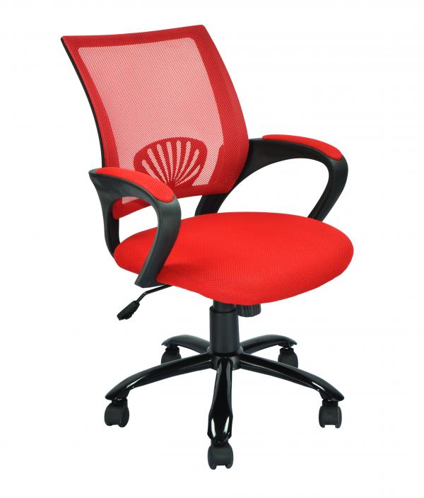 New Black Red White Ergonomic Mesh Computer Office Desk Task Chair W Metal Ba