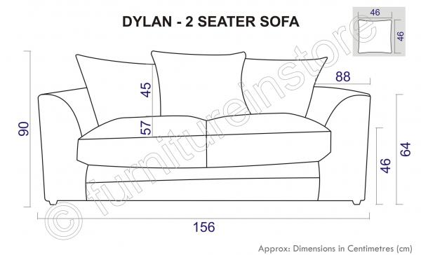 about 2 Seater Sofas JUMBO CORD DYLAN In CARAMEL, Fabric Sofa, Sofa