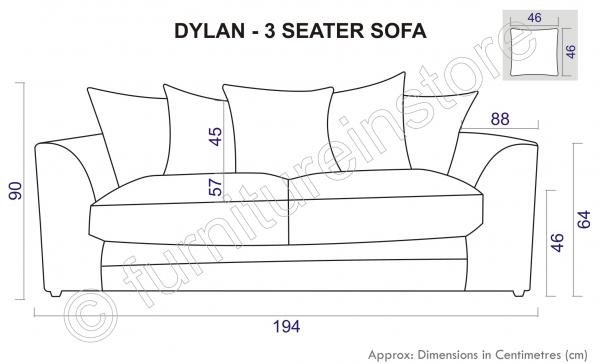 Seater Sofas in Black, Jumbo Cord Fabric Sofa Suites, Three Seater