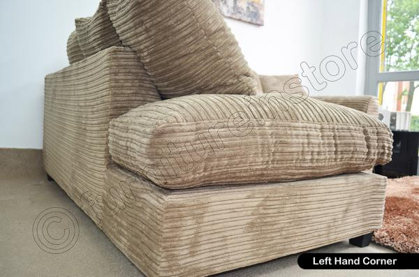 jumbo cord caramel fabric sofas 3 seater 2 seater sofa. Black Bedroom Furniture Sets. Home Design Ideas
