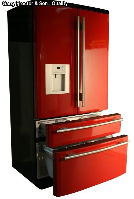american fridge freezer red cranberry high end fridge. Black Bedroom Furniture Sets. Home Design Ideas