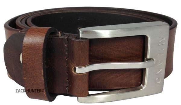 MILANO-MENS-1-5-034-REAL-FULL-GRAIN-LEATHER-BELTS-BLACK-BROWN-BELT-SILVER-BUCKLE
