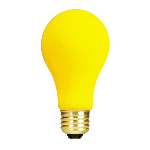 100w 100 Watt 130v Yellow Bug Repellent Light Bulb A19