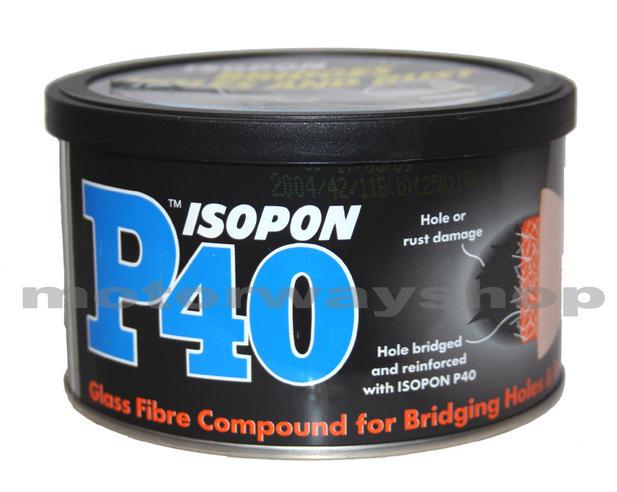 Body Filler Glass Fibre P40 Davids Isopon 250ml New Ebay