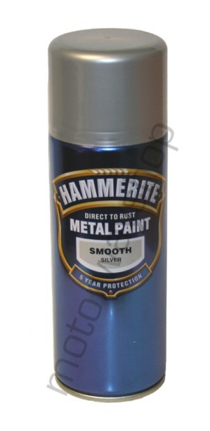 Hammerite Smooth Silver Aerosol Spray Paint 400ml New Ebay