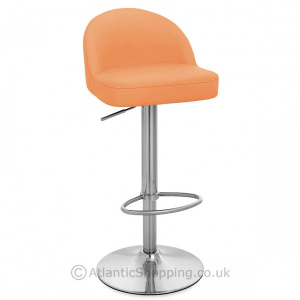 Mimi Brushed Steel Padded Faux Leather Kitchen Bar Stool