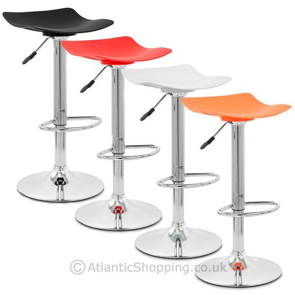 barhocker swerve kunststoff chrom gasdruckfeder schwarz orange rot weiss ebay. Black Bedroom Furniture Sets. Home Design Ideas