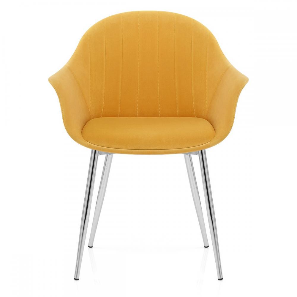 Auction *SET OF 2* Flare Dining Chair Mustard Velvet (FIL ...