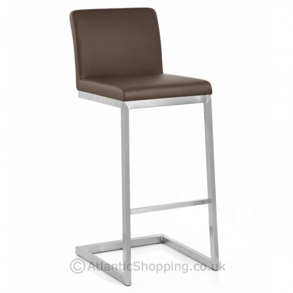 barhocker ace echtleder chrom geb rstet schwarz braun. Black Bedroom Furniture Sets. Home Design Ideas
