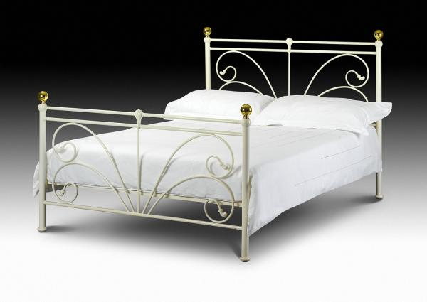Cadiz Metal Bed Frame Single Double Or King Size With