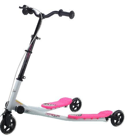 Mini Speeder Kids 3 Wheel Tri Motion Scooter V Wing Drifter Flicker | eBay