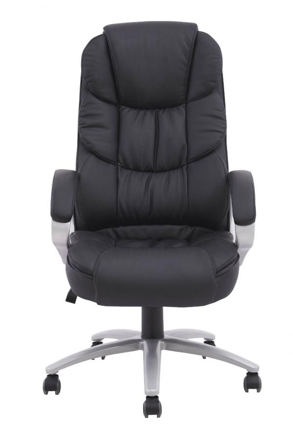 High Back Leather Executive Office Desk Task Computer Chair W/Metal Base O10