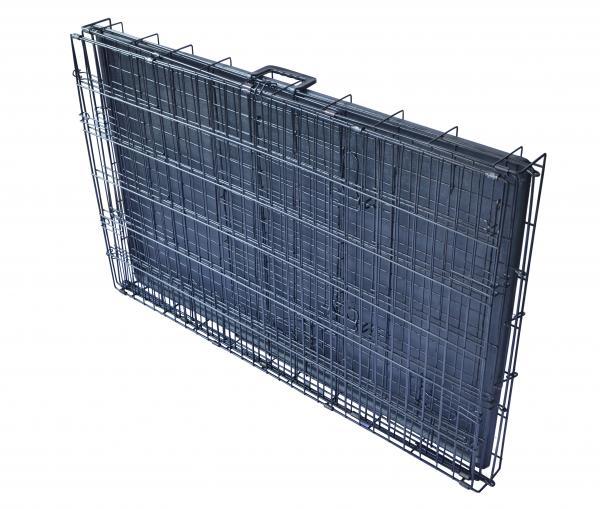 Black 48 Quot 2 Door Pet Cage Folding Dog W Divider Cat Crate
