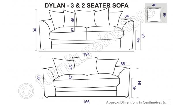 3 Seater Sofa Length Pix For Armchair Dimensions Inches