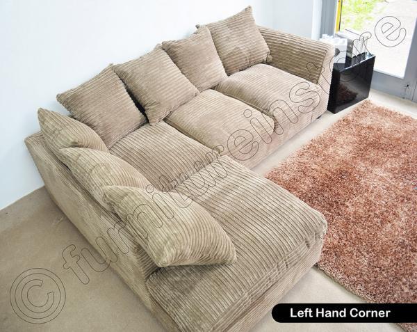 Caramel Dylan Jumbo Cord Fabric Sofas Settee Left Amp Right