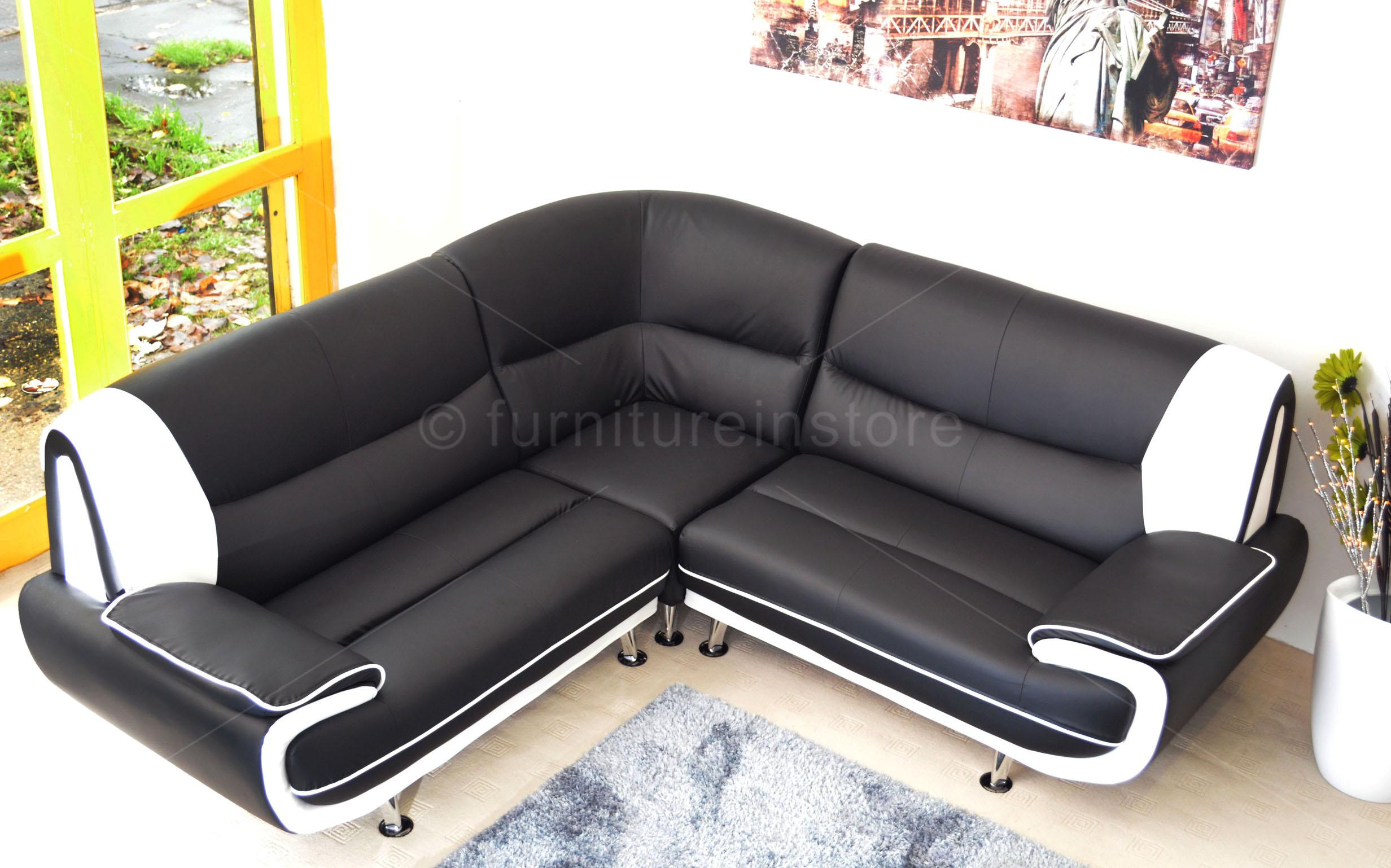 Faux Leather Corner Sofa Sofa PASSERO Corner Sofas Setttee on Sale